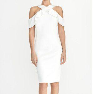 Rachel Roy Cold Shoulder Halter Dress  White sz XL
